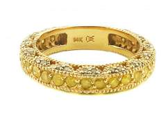 14 KARAT GOLD  COLORED STONE AND DIAMOND RING