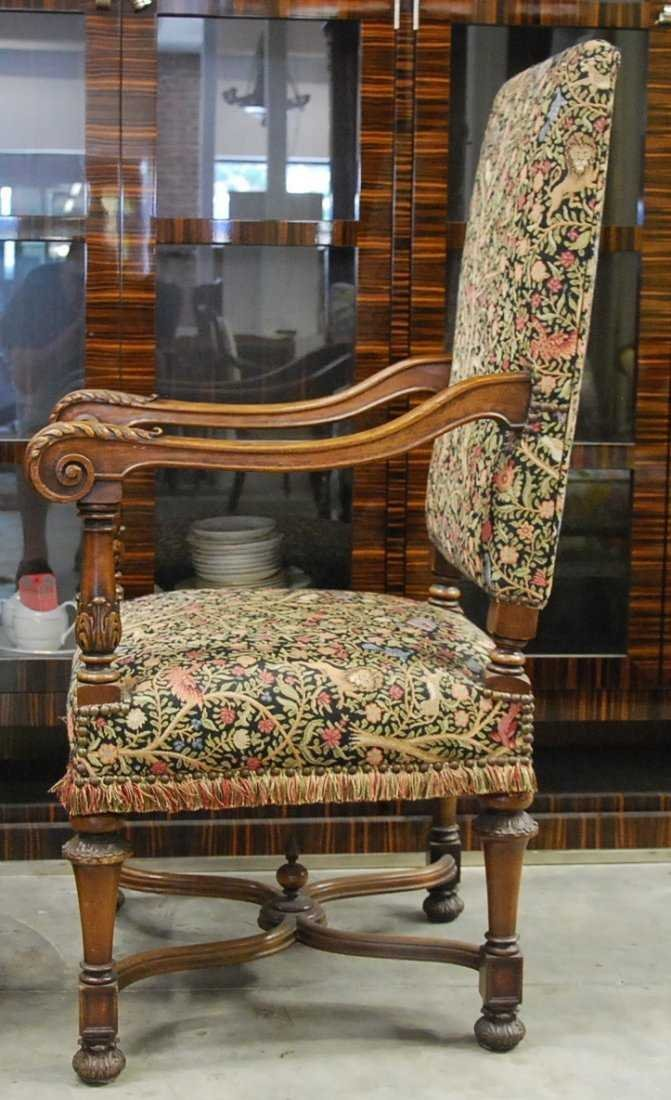 PAIR FRENCH BAROQUE STYLE WALNUT FAUTIUELS - 2