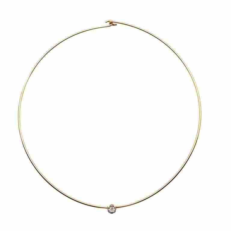 "14kt Yellow Gold and Diamond ""Choker"" Necklace"