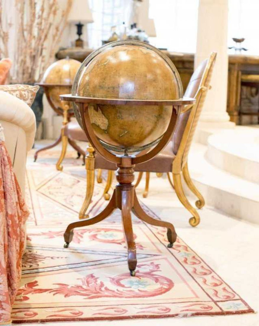 Magnificent and Large Pair of George III Library Globes - 3