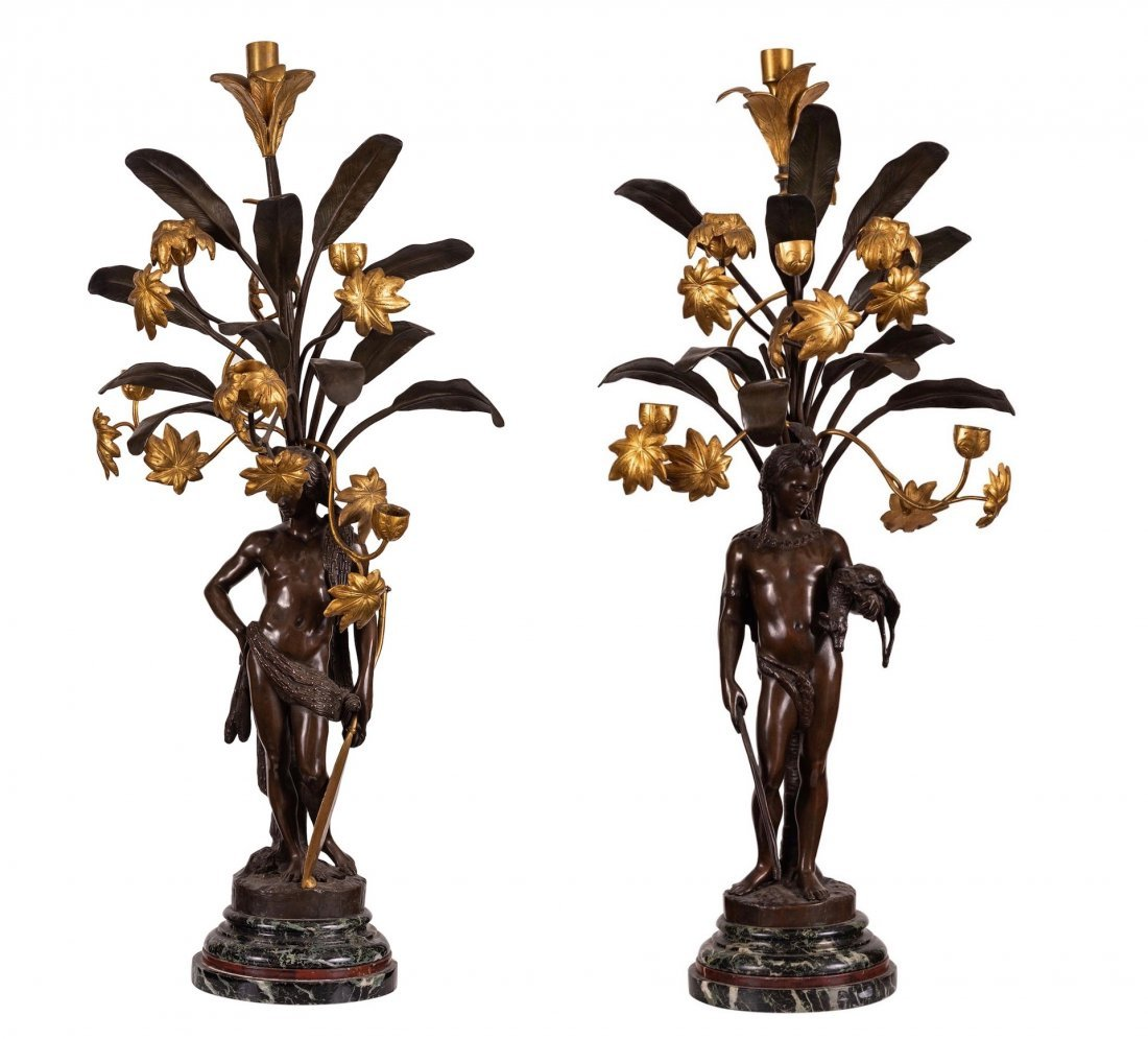 Very Fine Pair of French six-light Candelabra,