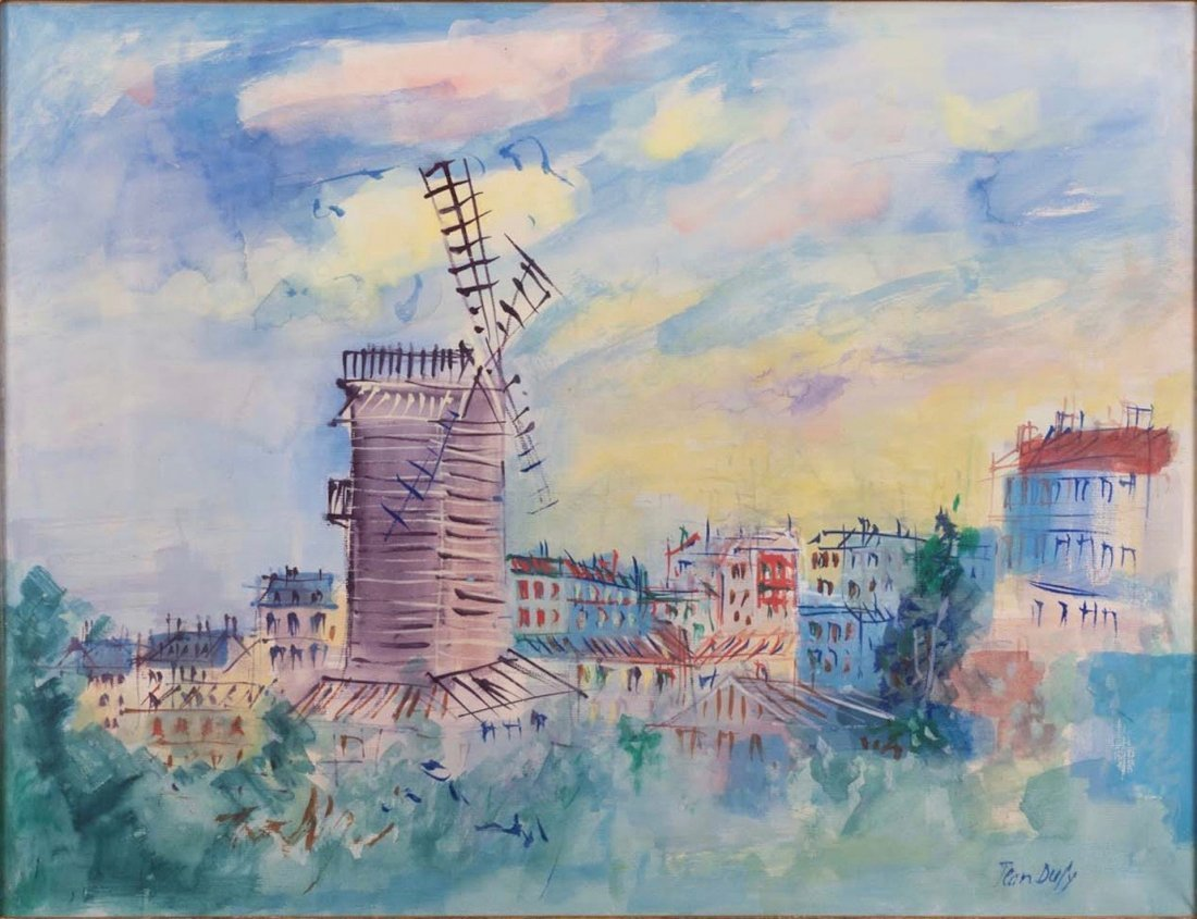 JEAN DUFY (1888-1964), Large and Important Painting