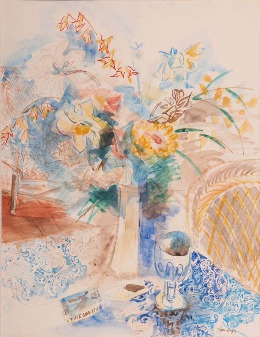 Jean Dufy (1888-1964), Still Life, Watercolor/Pencil