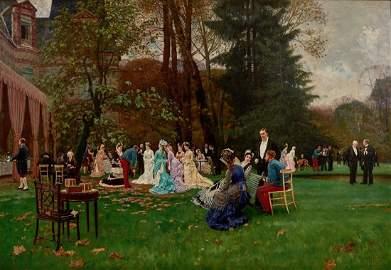 Charles Edouard Delort (1841-1895)  fine oil on canvas