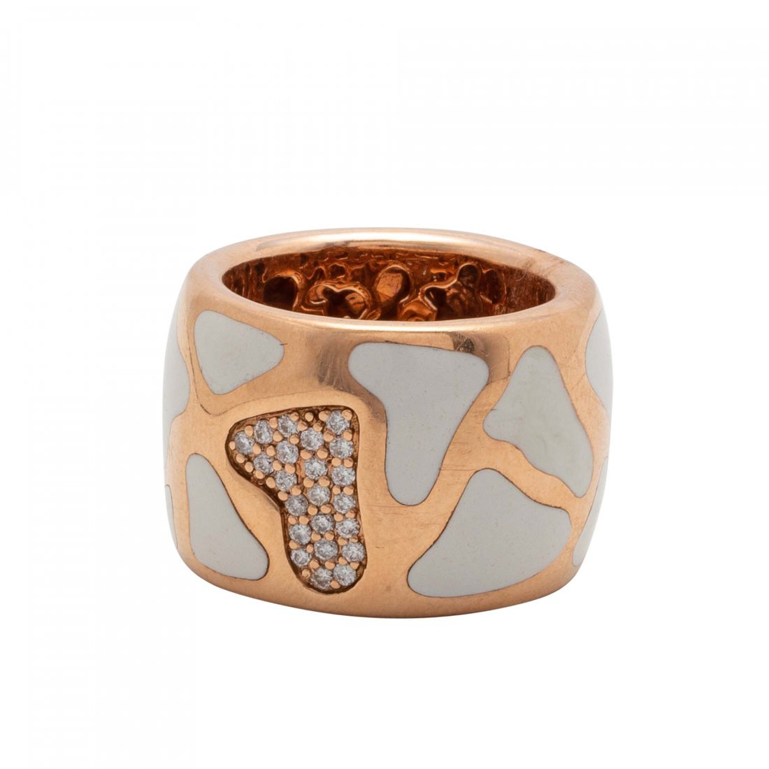 Gold, Enamel and Diamond Ring