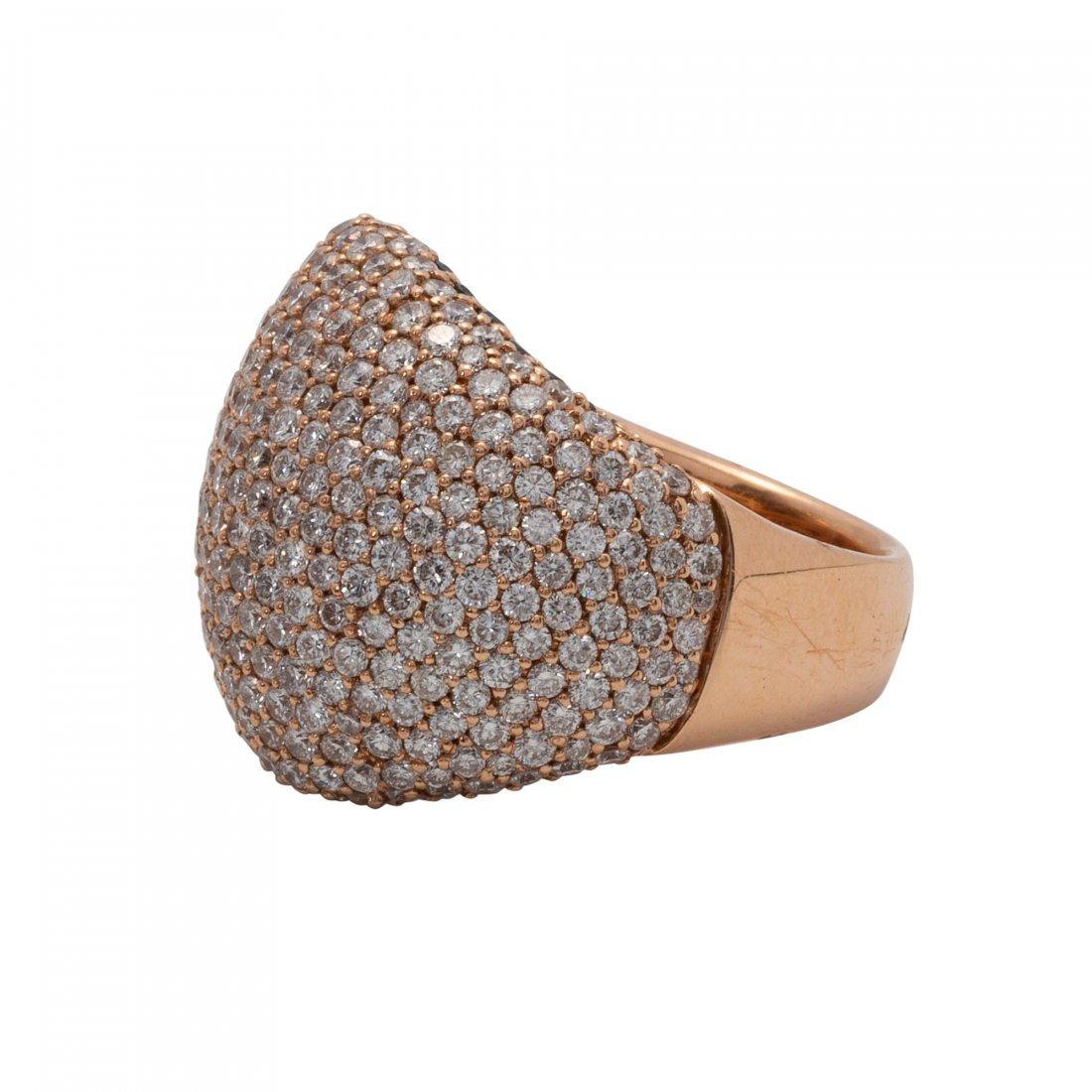 Gold, Diamond and Diamond Ring - 2