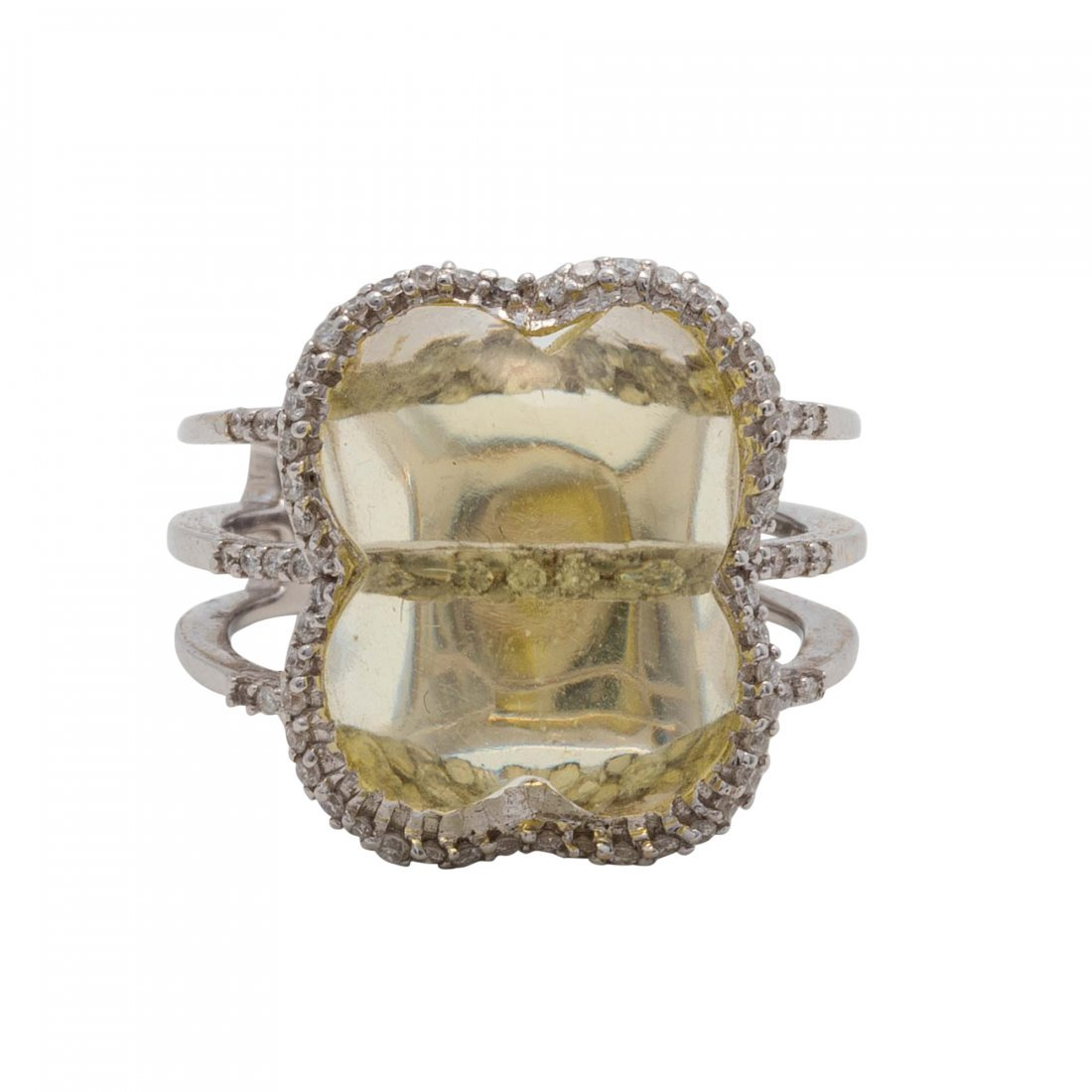 Colored Stone and Diamond Ring