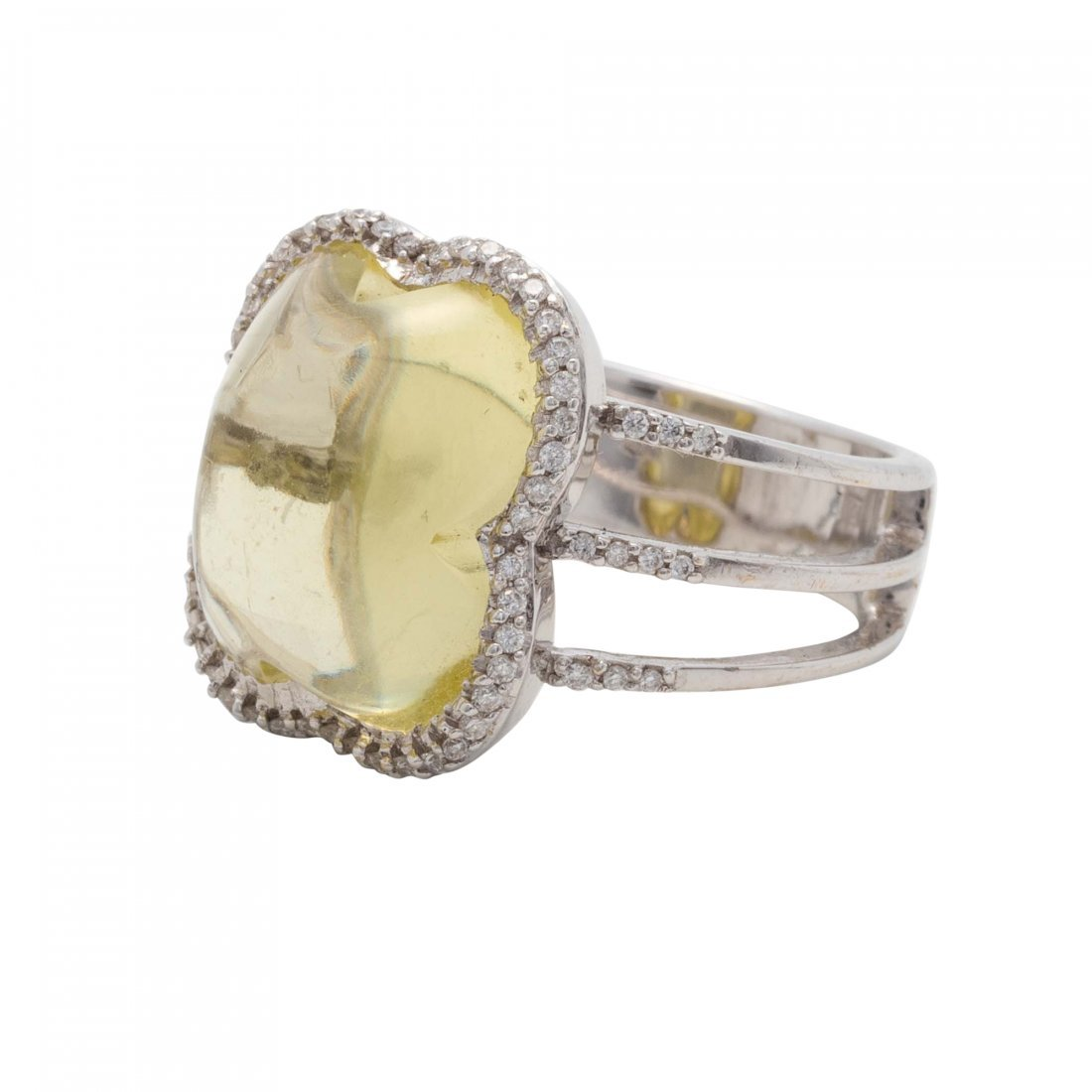 Colored Stone and Diamond Ring - 2