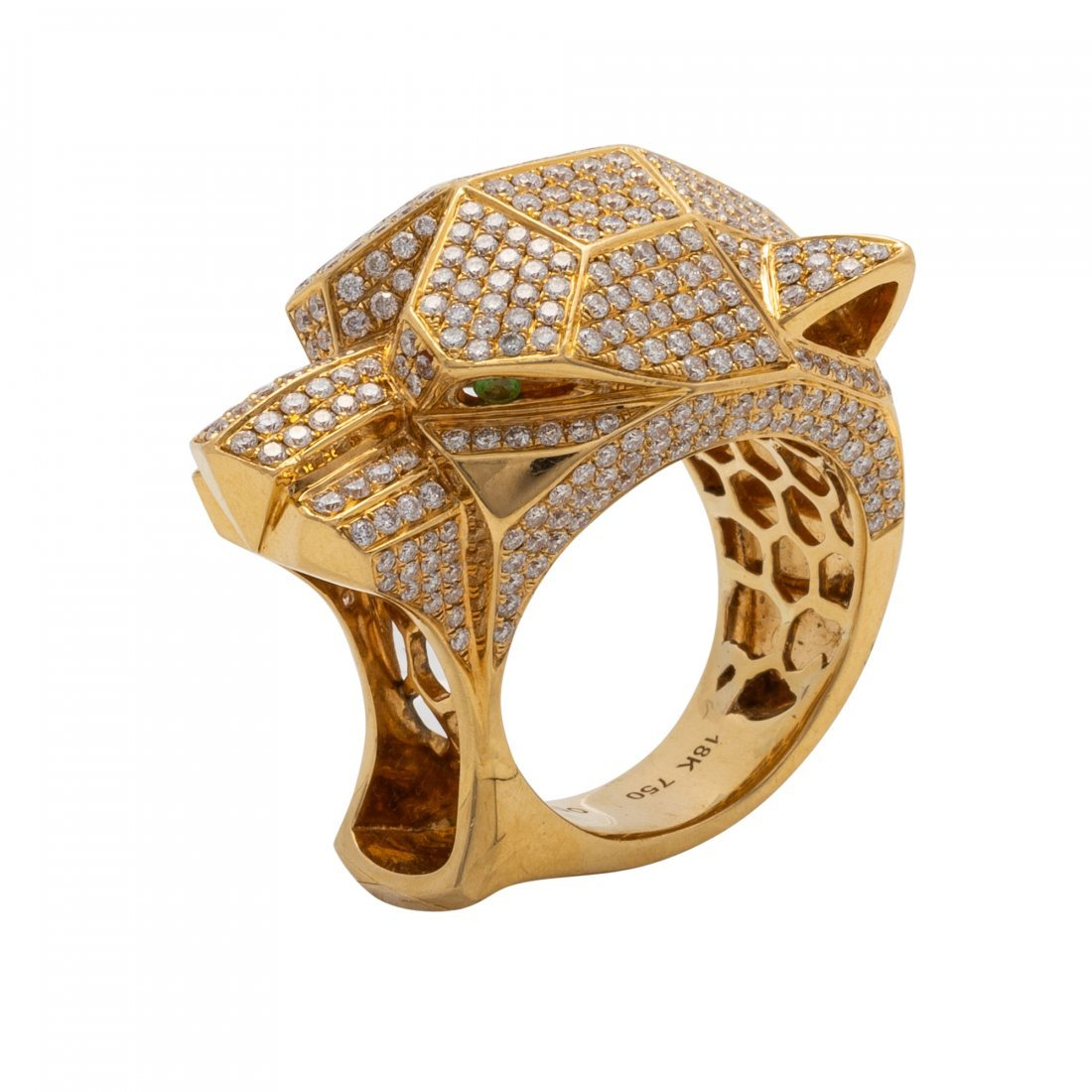 Interesting Gold and Diamond Ring