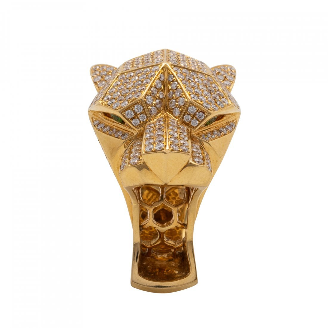 Interesting Gold and Diamond Ring - 3