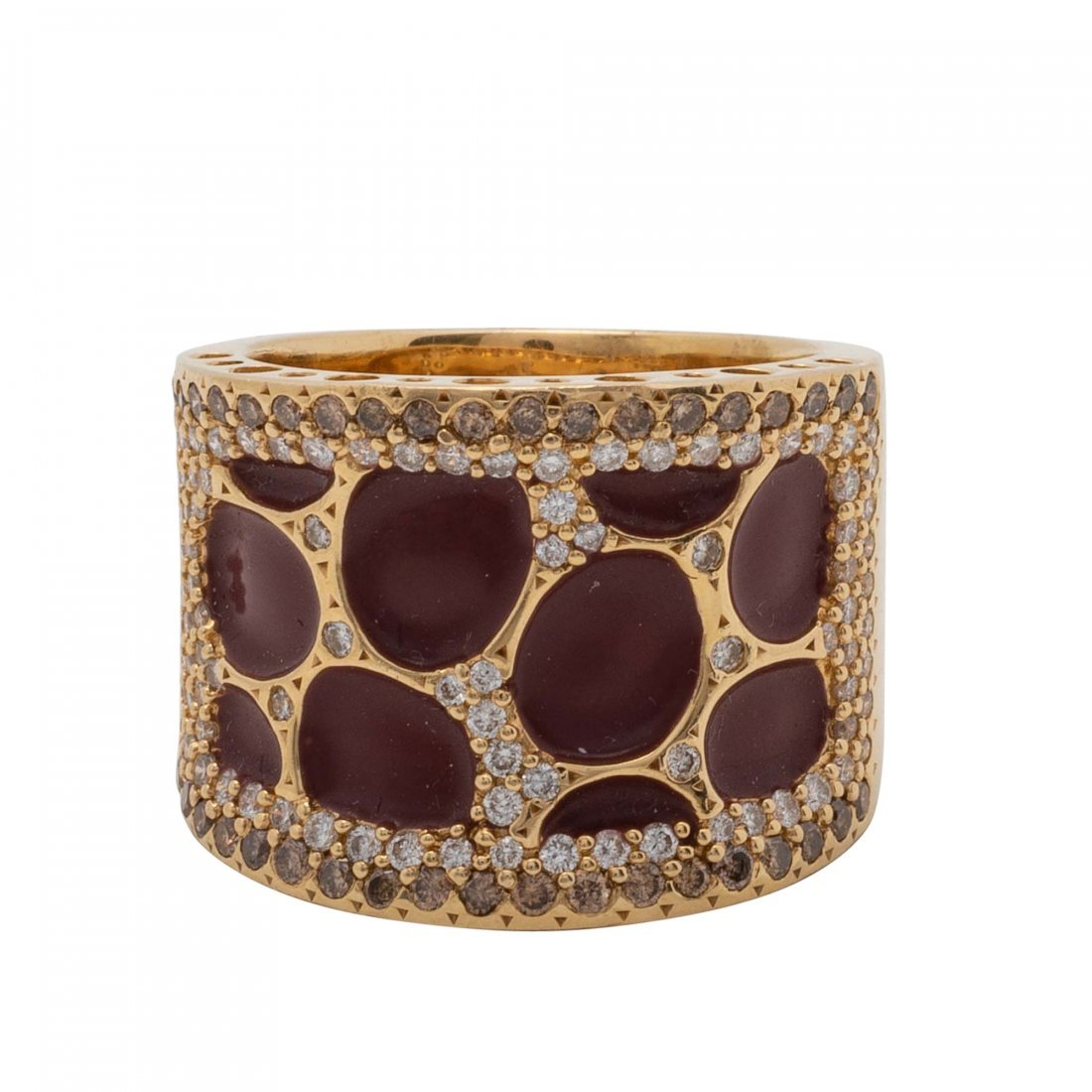 Gold, Colored Stone and Diamond Ring