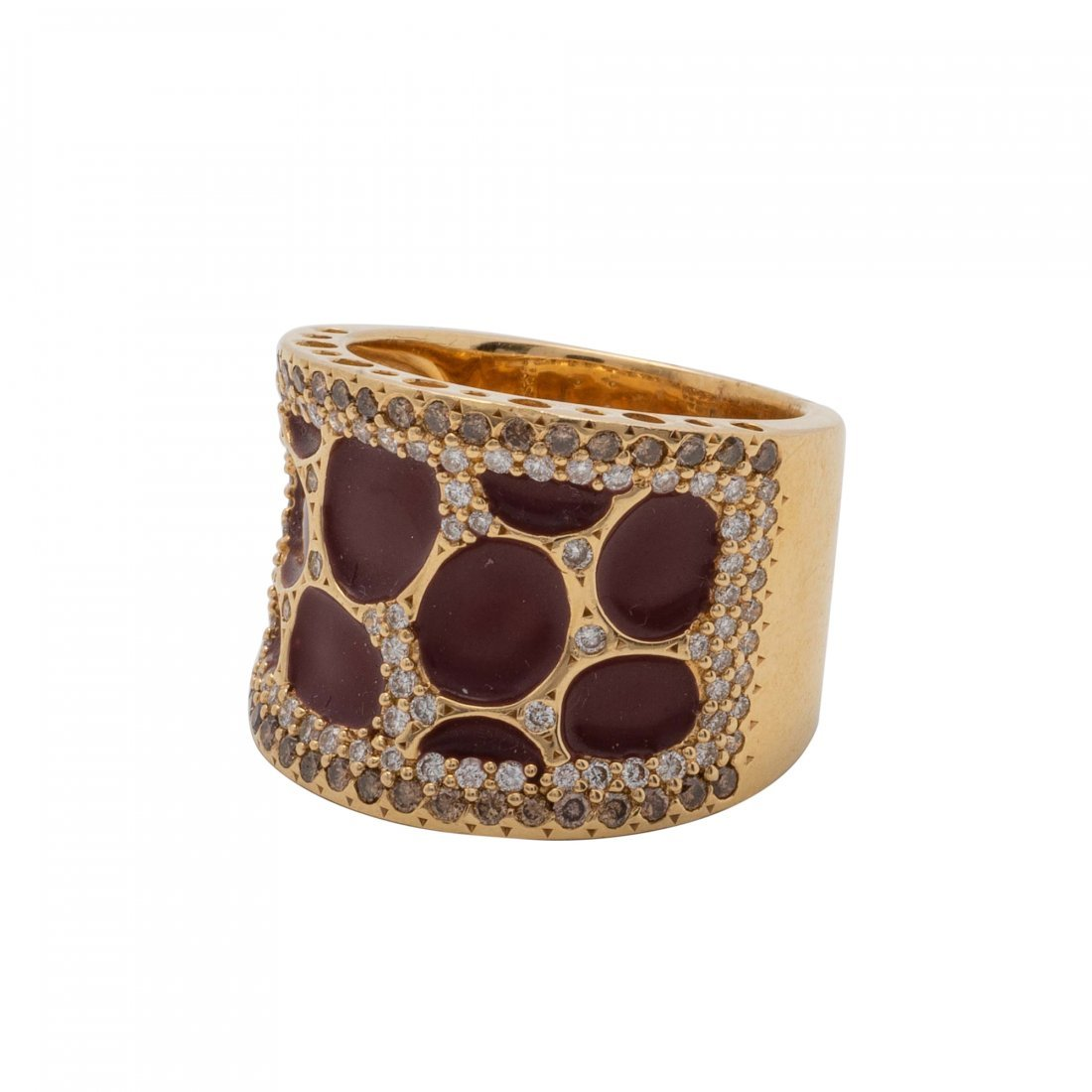 Gold, Colored Stone and Diamond Ring - 2