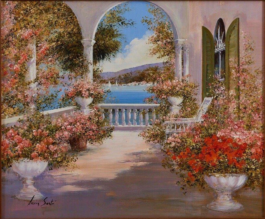 Lucia Sart (1950) Oil on Canvas Amalfi, Italy