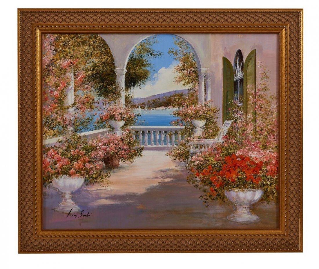 Lucia Sart (1950) Oil on Canvas Amalfi, Italy - 2