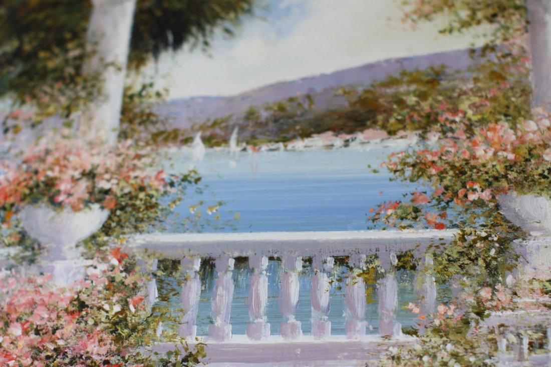 Lucia Sart (1950) Oil on Canvas Amalfi, Italy - 7