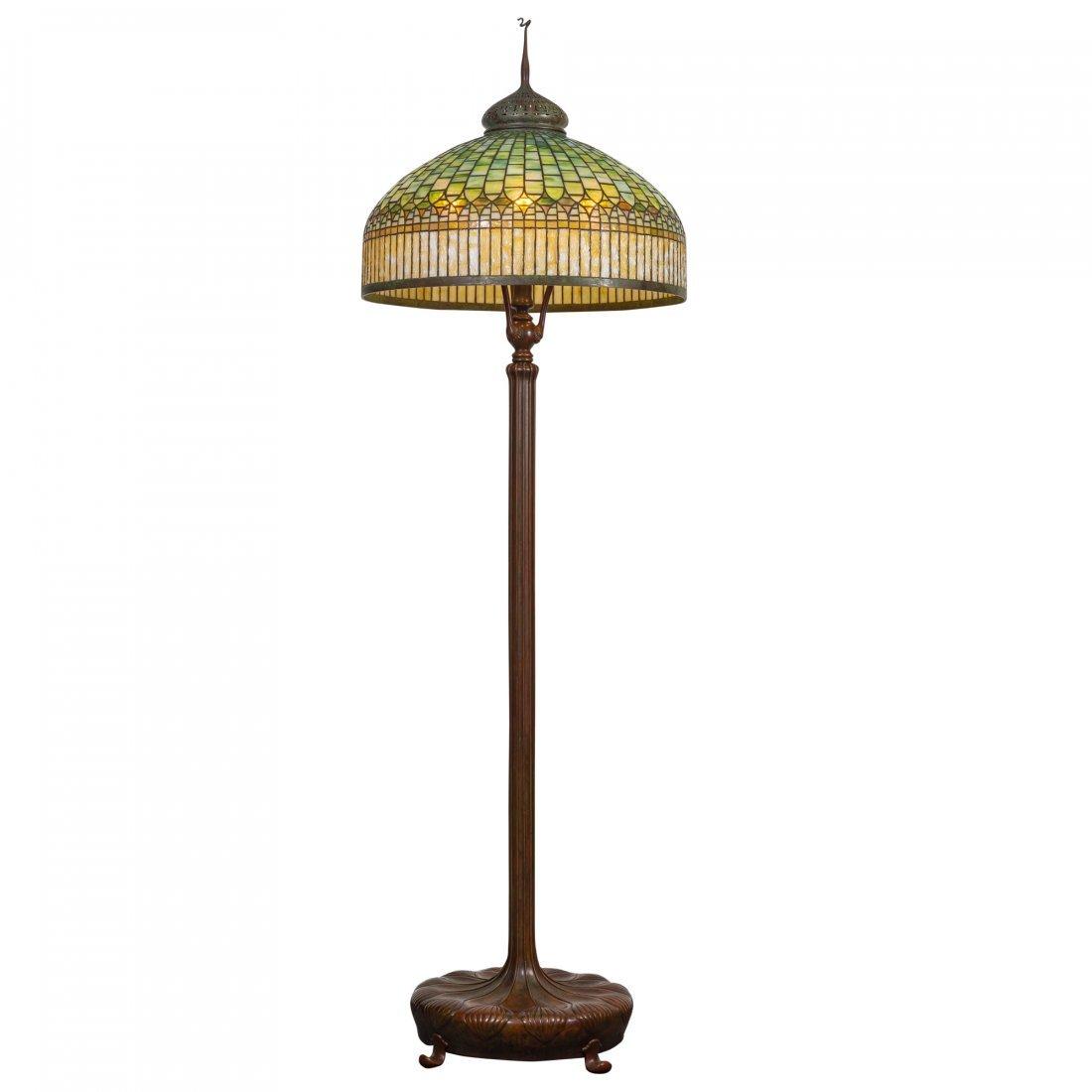 Very Fine Tiffany Curtain Border Floor Lamp