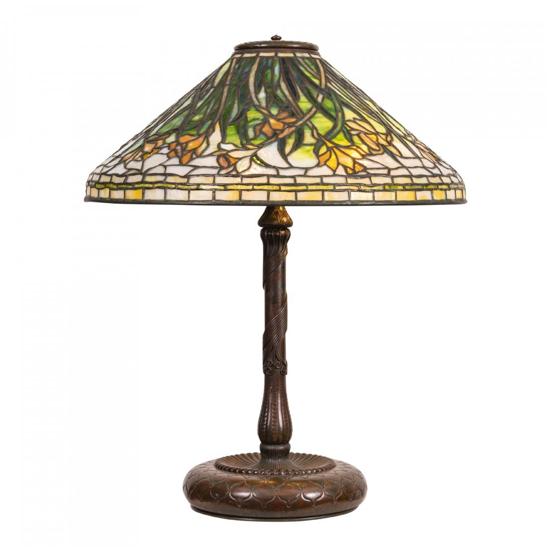 "A Very Fine Tiffany ""Daffodil"" Table Lamp"