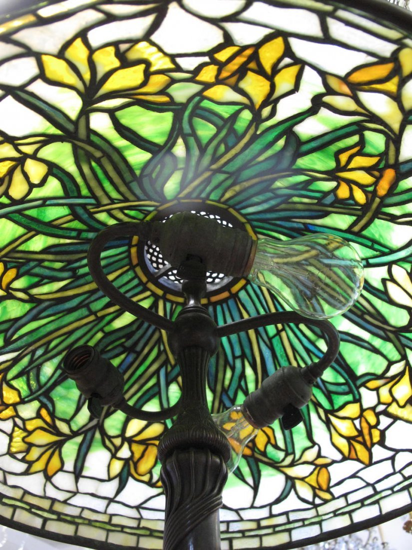 "A Very Fine Tiffany ""Daffodil"" Table Lamp - 8"
