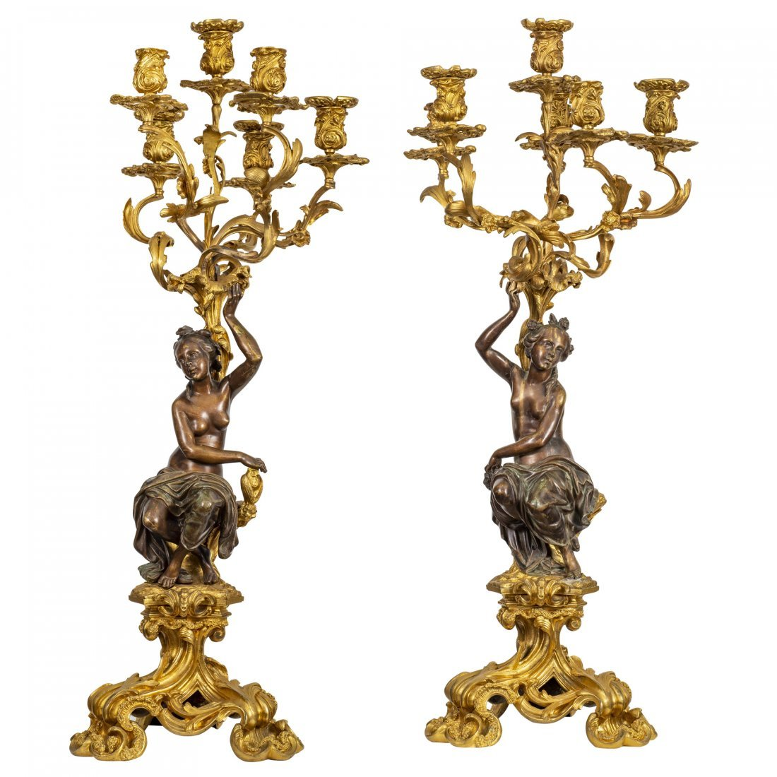 Large and Fine Pair of 19th Century Candelabra