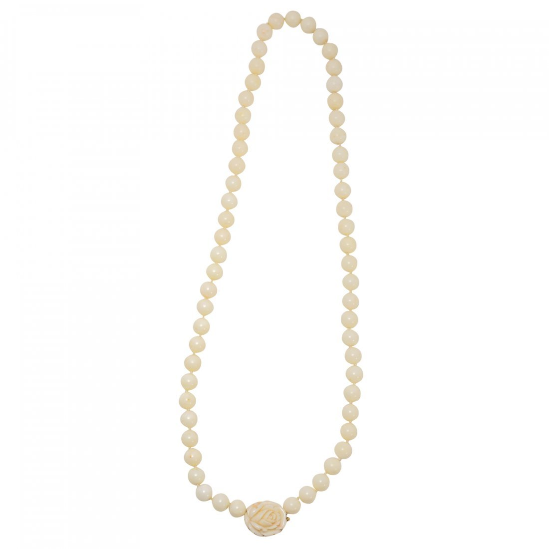 White Coral and Gold Necklace
