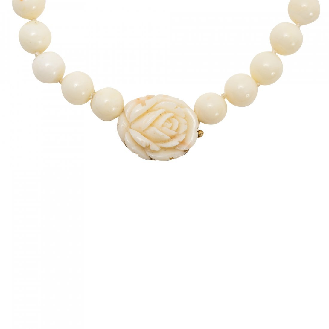 White Coral and Gold Necklace - 2
