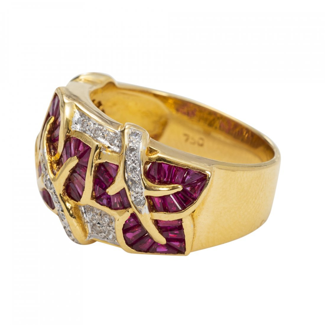 18kt Gold, Ruby and Diamond Ring - 2