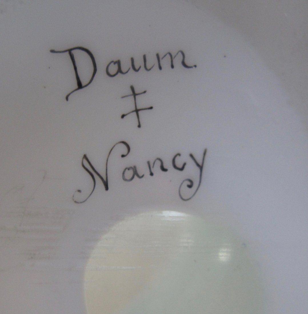 Rare and Fine Daum Nancy Cameo and Enamel Glass Vase - 2