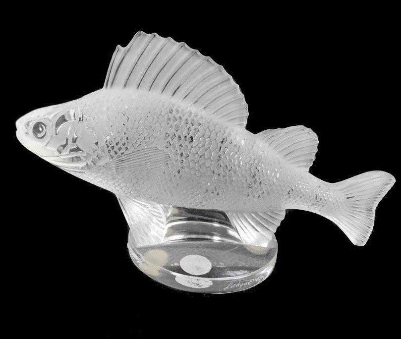 Lalique - Paris, France (Modern) Fish Crystal Mascot - 2