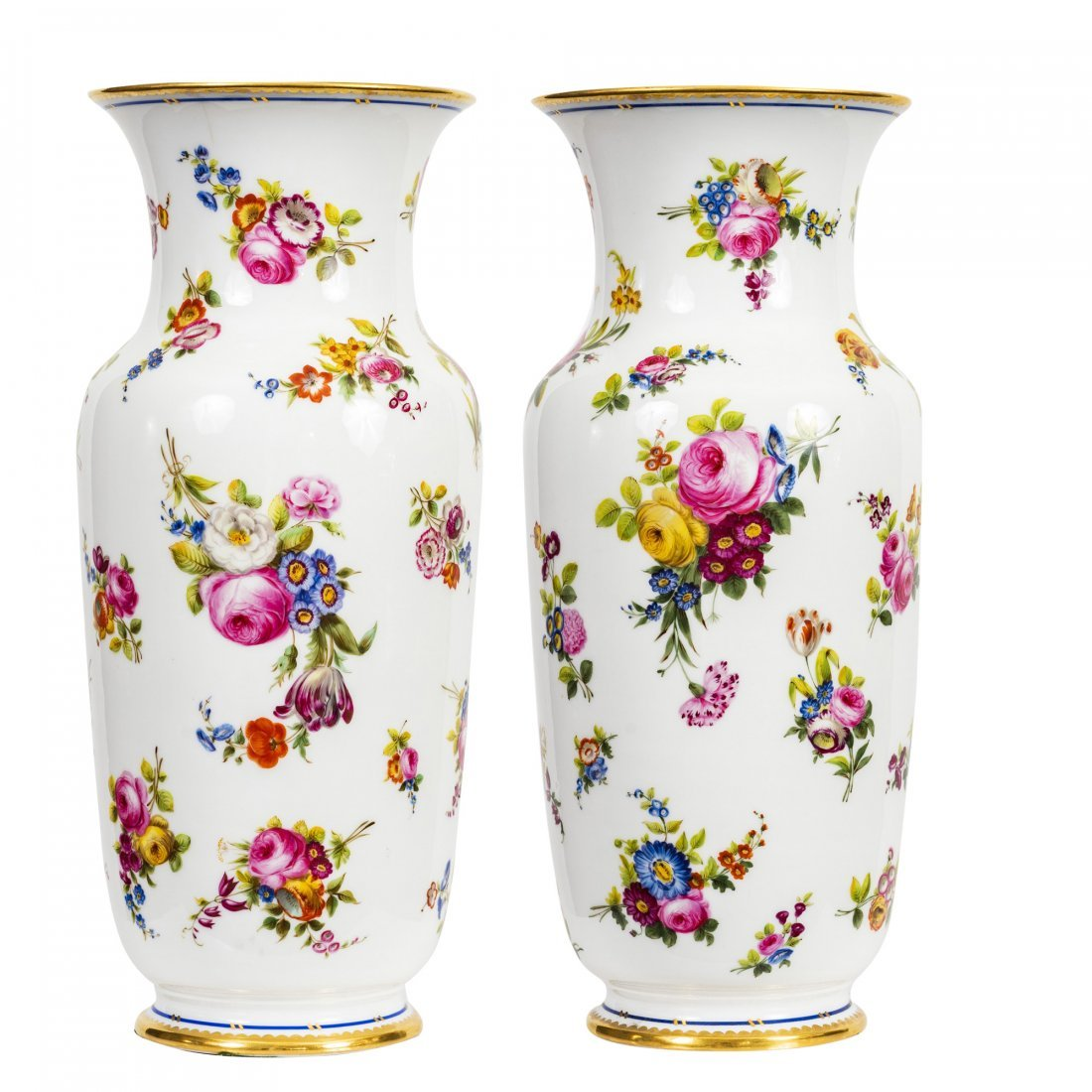 France, 19th Century Very Fine Paris Porcelain Vases