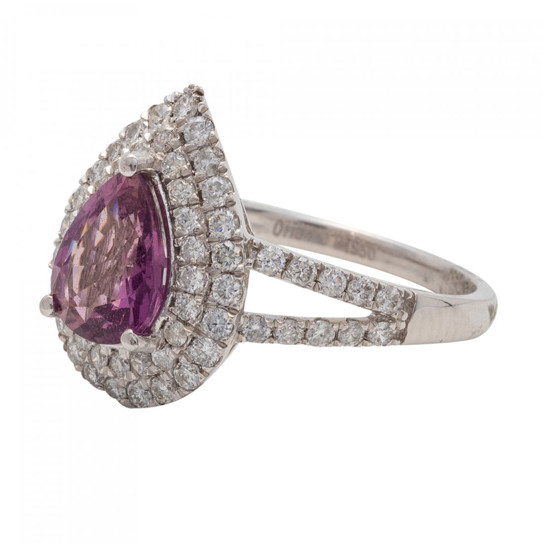 Fine Natural Pink Sapphire and Diamond Ring - 2
