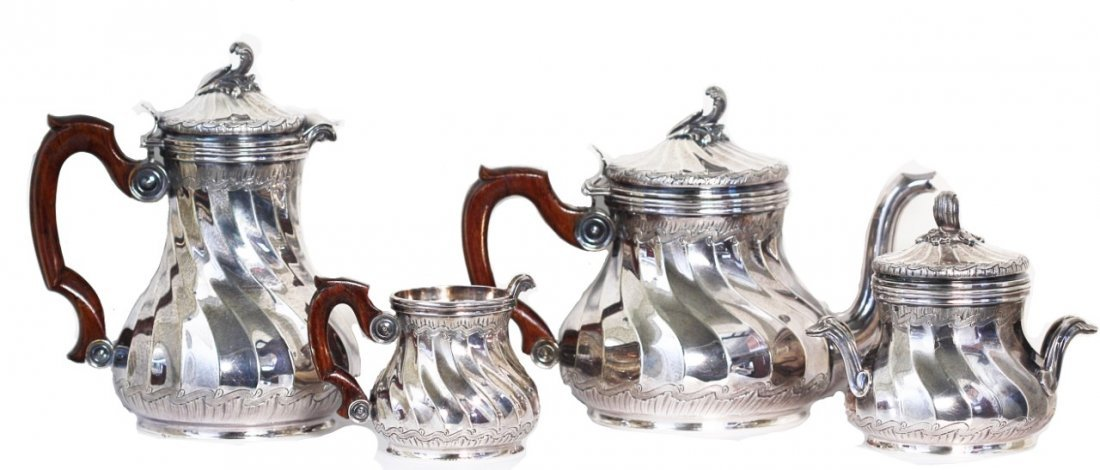 Tiffany & Co., Antique Silver Coffee and Tea Set