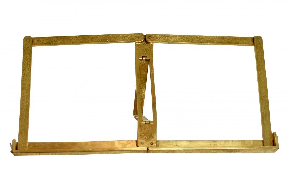 Gilt Bronze Folding Album Stand, Late Qing Dynasty
