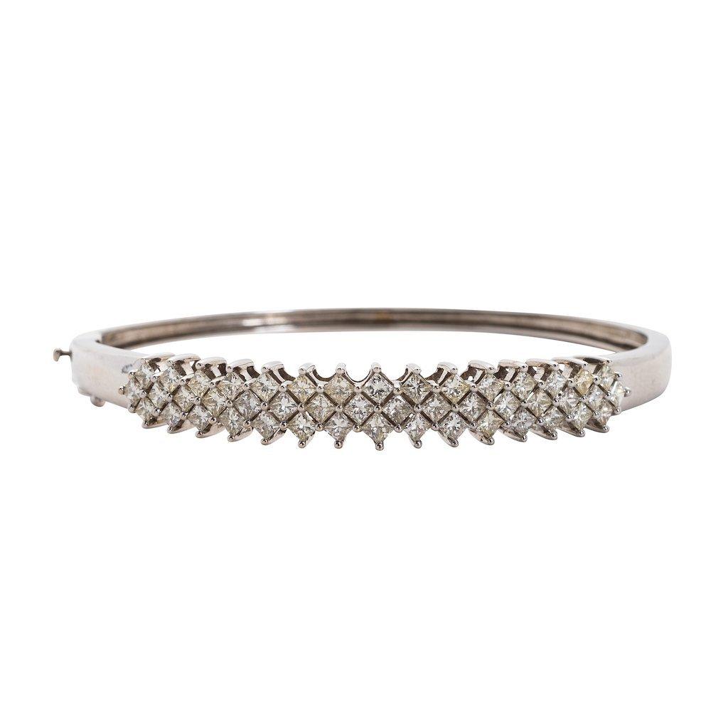 Diamond and Gold Bangle-Bracelet