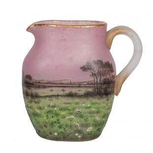 Daum Nancy Enamel and Internally Decorated Glass Vase