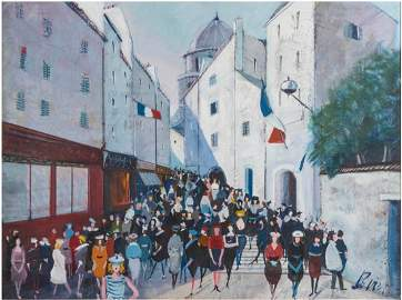 Charles LEVIER  (1920-2004) Oil on Canvas