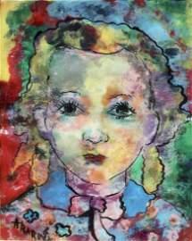 Marguerite Acarin AKAROVA (1904-1999), watercolor