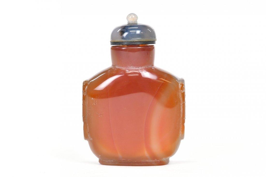 Carnelian Agate Snuff Bottle