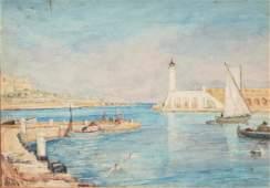 "Ernest LAW (XIX-XX) ""Antibes 1925"""