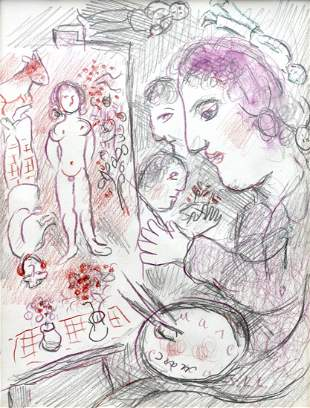 Marc CHAGALL (1887-1985) watercolour on paper