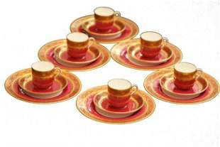Mintons Porcelain Part Dessert Service, Tiffany & Co.