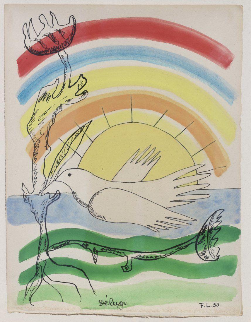 Fernand LEGER (1881-1955) Gouache, brush, ink, pencil