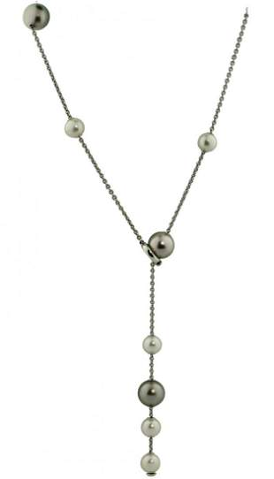 18K Gold and Cultured Pearl Necklace, Mikimoto