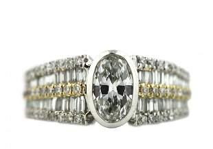 Eighteen-Karat Gold Diamond Ring