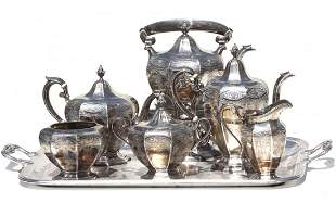 Fine Antique Sterling Silver Tea and Coffee Set
