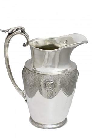 Gorham Silver Soldered Pitcher Re-Plated by Tiffany