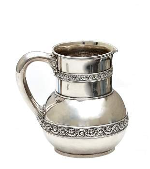 An American Silver Water Pitcher, Tiffany & Co.