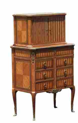 Napoleon III style Gilt Bronze Mounted Writing Cabinet