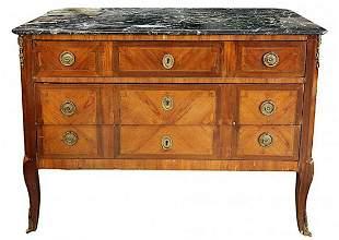 Louis XVI Fruit-wood Veneered Commode