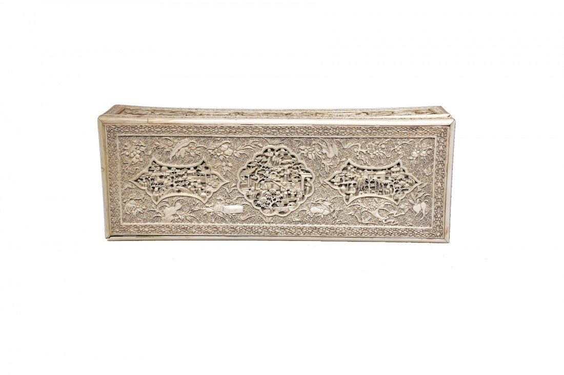 Ivory Box, Ornately carved Chinese