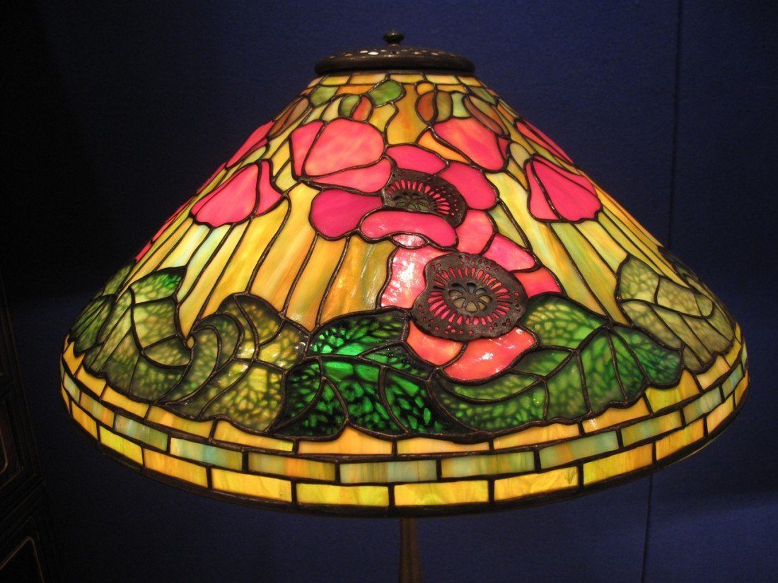 "Tiffany ""Poppy"" Lamp, circa 1920,stamped TiffanyStudios"